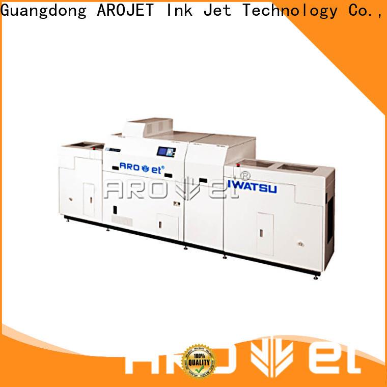 Arojet custom inkjet printing machine suppliers for paper